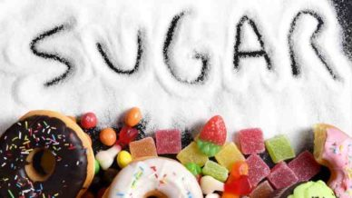Sugar with sugary foods