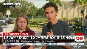 David Hogg, student survivor of school shooting in Parkland, Florida