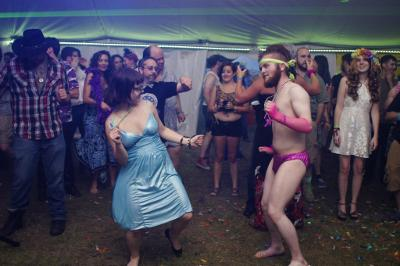 Half naked dance at PorcFest
