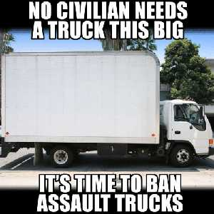 No civilian needs a truck this big. It's time to ban assault trucks.