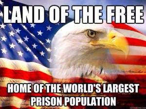 Land of the free, home of the world's largest prison population
