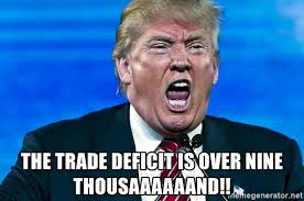Trade deficit is over nine thousand!